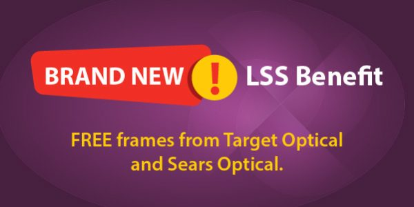 9766c5345ba New Benefit! FREE frames from Target Optical and Sears Optical. -